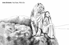 Cómo dibujar una mujer y un tigre con pluma de vidrio y tinta China (artedivierte) Tags: arte dibujo artedivierte tigre mujer tintachina plumadevidrio artistleonardo leonardopereznieto patreon