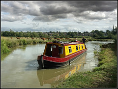 Bryn (Jason 87030) Tags: water canal cut oxfordcanal braunston light cows cattle field countryside village man woman nice baps yellow dark moody clouds august 2018 birds tits reflection big church spire view scene england unitedkingdom greatbritain today walk weather hire rental leisure pleasure