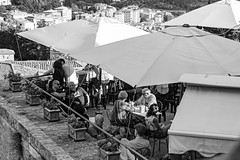 Aperitivo a Perugia (Mancini photography) Tags: perugia relax moments citylife monochrome contrast drink appetizer