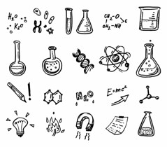 science icons (mghresearchinstitute) Tags: art atom background biology chemical chemistry college design discovery dna doodle drawing drawn education element equipment experiment flask formula glass hand icon illustration isolated lab laboratory magnet medical medicine molecule paper pattern physics research school science scientific seamless set sign sketch structure study symbol technology test tube water