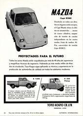 1962 Mazda Cars and Trucks (aldenjewell) Tags: 1962 mazda coupe r360 b1500 k360 pickup ad