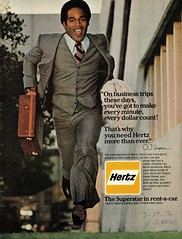 1976 Hertz Rent-a-car ad with O. J. Simpson (aldenjewell) Tags: 1976 hertz rentacar ad oj simpson