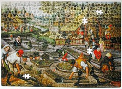 Spring (pefkosmad) Tags: jigsaw puzzle hobby leisure pastime breughel brueghel bruegel pieterbreugheltheyounger spring art painting fineart dtoys romania incomplete missingpieces