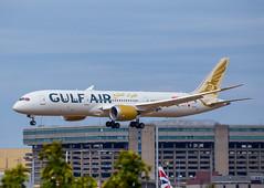 GulfAir (Tirolix) Tags: gulf gulfair bahrain london heathrow landing 787 boeing 7879