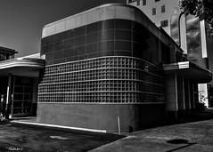 Abandoned Greyhound Bus Depot (that_damn_duck) Tags: nikon blackwhite monochrome abandoned urbex urbanexplorer greyhoundbus depot artdeco architecture building glassblocks bw blackandwhite