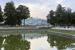 Catherine palace. Reflection. (fedoseenko) Tags: санктпетербург россия красота colour природа beauty blissful loveliness beautiful saintpetersburg sunny art shine dazzling light russia day green park peace garden blue white голубой небо лазурный color sky pretty sun пейзаж landscape clouds view heaven mood summer serene golden gold gate palace дворец colours picture exhibition pavilion hall architecture building photographer фотограф catherine road tree grass nature alley history trees tsar stairway walkway river water отражение reflection flickrfriday