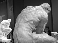 Double-Think (failing_angel) Tags: 010518 london camdenborough bloomsbury britishmuseum museum rodin rodinandtheartofancientgreece sculpture augusterodin pheidias thethinker parthenon