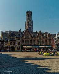 Belfry Tower, Markt Square , Bruges (Sandra Whiteway) Tags: belfry tower belfrytower belfortvanbrugge belfryofbruges towerofthehalls halletoren longfellow henrywadsworthlongfellowpoem
