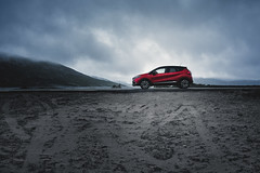 Just a capture (Ornaim) Tags: car renault captur norway norge mountain scenic road sand songesand ryfylke rogaland lake landscape nature moody red roadtrip atmospheric nikon d850 nikkor afs lee filter nisi cpl gnd