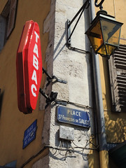 Annecy Corner 2 (philmatey) Tags: tabac france annecy corner sign light