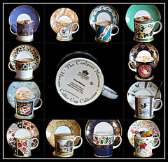 2018: Coalport Museum Historic Coffee Cup & Saucer Collection collage (dominotic) Tags: 2018 coffeeobsession food drink coffeecupandsaucer thecoalportmuseumhistoriccoffeecupcollection coffee yᑌᗰᗰy blackbackground collage coffeecollage sydney australia