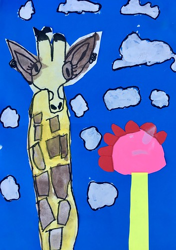 """1st grade African Giraffe Paintings #giraffe #drawing #painting #art #collage #1st #1stgrade #arteducation • <a style=""""font-size:0.8em;"""" href=""""http://www.flickr.com/photos/57802765@N07/43894774461/"""" target=""""_blank"""">View on Flickr</a>"""