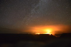 Forest Fire in the Grand Canyon (Cyril Le Roux) Tags: night arizona forestfire starrynight wildfire grandcanyon