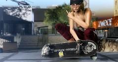 Go fuck thyself (VeraCruza) Tags: rk maitreya belleza hourglass taketomi srcreations skateboard poses bento arbordale secondlife fashion virtualworld urban street