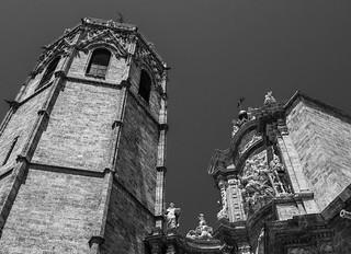 Historic Valencia Cathedral (Spain) (Monochrome) (Panasonic Lumix LX100 Compact) (1 of 1) - Copy