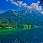 Hintersteiner See with the Alps in Tyrol, Austria thumbnail
