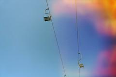 You'd never convince me (Melissa Maples) Tags: batumi batum ბათუმი adjara აჭარა georgia gürcistan sakartvelo საქართველო asia 土耳其 apple iphone iphonex cameraphone spring მწვანეკეპი mtsvanecape lightleak sky blue chairlift cablecar
