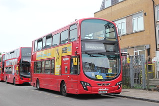 Metroline Travel . VW1247 LK12ABF . Claremont Road , Queens Park , Kilburn , North West , London . Sunday 12th-August-2018 .
