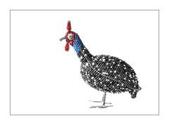 Handmade... (Daniela 59) Tags: 7dwf crazytuesdaytheme handmade beads wire bird art guineafowl danielaruppel