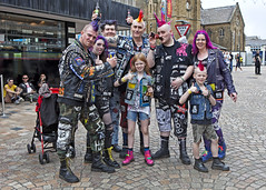 Generations X Y & Z (Mick Steff) Tags: generations x y z punks punk music festival blackpool rebellion group candid street urban road buildings signs people
