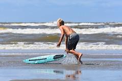DSC_6975 (marcnico27) Tags: 2018 marcnico27 zandvoort beach shore strand sky surf board sport wet outdoor noordzee northsea male jump