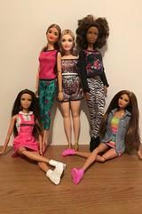 Fives.... (Gavapillar) Tags: barbiekira barbieasha barbiemarisa barbiechristie barbiecurvy barbiesoinstyle barbiemadetomove barbiefifthharmony barbiefashionista barbiedoll barbie