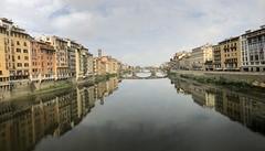 Bridges of Florence (Rick Payette) Tags: italy iphone8plus arno bridges florence panorama