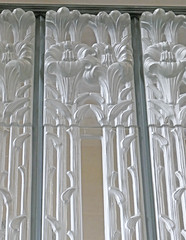 Lilies at the top of a glass wall panel (Monceau) Tags: glass panel open lilies glasschurch renélalique jersey millbrook anglican lalique