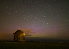 Aurora at the Mussenden Temple (jac.photography49) Tags: afterdark astrophotography autumn auroraborealis clouds constellation downhill donegal exposure fullframe f14 ngc nightsky night images ireland wideangle sky northernireland nationaltrust nightscene plough sea stars samyang24 samyang temple aurora perseid meteror ursamajor