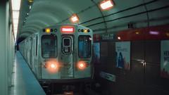 CTA REDLINE (Jovan Jimenez) Tags: cta redline grand train station widescreen 16x9 canon eos rebel t2 nikkor 50mm f12 cinestill 800t kodak vision3 tungsten film flare 300x kiss7 l el howard cinematic streetphotography