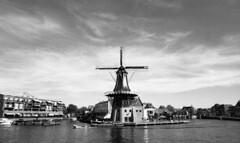 Haarlem (neilsonabeel) Tags: nikonfe2 nikon film analogue nikkor haarlem netherlands windmill blackandwhite