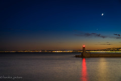 gOOd night Nice (harakis picture) Tags: france paca nice frenchriviera night moon sony a7 sea