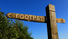 Walk This Way (acwills2014) Tags: walkers texture worn signpost post footpath wood