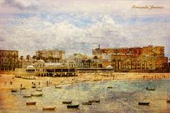Playa de La Caleta (Cádiz) (alanchanflor) Tags: canon textura cádiz andalucía españa la caleta barcas playa balneario cielo mar
