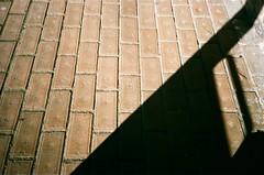 Bricks and shadows (Matthew Paul Argall) Tags: olympusam100 35mmfilm untouchedandunedited fujifilm superiaxtra xtra 400speedfilm 400isofilm brick bricks shadow ground floor