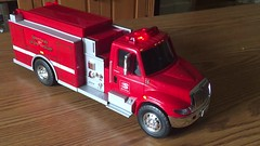 Here's something new for you fire engine collectors!  A 1/24 scale model from First Gear IHC. for Speed Way gas station. (Chicago Rail Head) Tags: toyfiretruck 124scale speedwayfireengine review byfirstgear