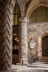 Dunfermline Abbey (Jeremy Caney) Tags: 12thcentury abbey abbeyoftheholytrinityandstmargaret arches benedictineabbey bricks carved carvedcolumns church churchofscotland columns dunfermline dunfermlineabbey fife gothicarch greatbritain nave parishchurch pillars romancatholic romancolumns romanesque scotland stone travel unitedkingdom vault
