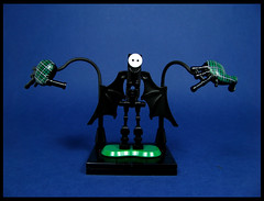 The Piper from the Gates of Hell (Karf Oohlu) Tags: lego moc figure bagpipe bagpipesfromhell smiley horror blackwings