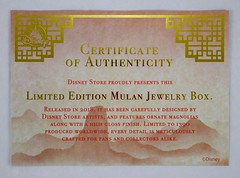 Mulan 20th Anniversary Jewelry Box - Limited Edition - Disney Store Purchase - Certificate of Authenticity (drj1828) Tags: mulan 20thanniversary jewelry box wood limitededition le1390 disneystore us shopdisney productinformation purchase boxed