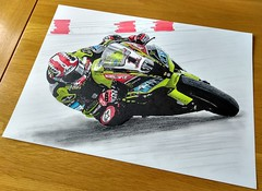 World superbikes, Jonathan Rea... (GP1805) Tags: artwork art artist draw drawings drawing pencil ink inkdrawing california lagunaseca worldsuperbikes jonathanrea kawasaki usa derwent winsorandnewton fabercastell