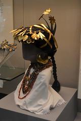 London, England, UK - British Museum - Mesopotamia - Reconstructed Head of a Sumerian Woman, Ur, c 2500 BC (jrozwado) Tags: europe uk unitedkingdom england london museum britishmuseum history culture anthropology mesopotamia ur sumeria woman jewelry