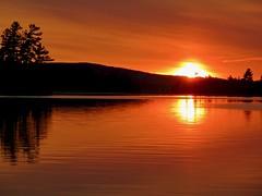 Sunset over Lake Clear (Meryl Raddatz) Tags: