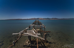 Ruined pier at Kalloni bay. (PvRFotografie) Tags: greece griekenland lesbos lesvos groothoek wideangle water sea seashore zee kust coast longexposure landscape landschap nature natuur nd filter sonyilca99m2 sigma1224mm sigma12244556 1224mm 12mm sigma1224mmf4556dgiihsm leesw150 leesuperstopper kallonis skala triggertrap