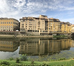 Florence (Rick Payette) Tags: italy iphone8plus arno bridges florence reflections