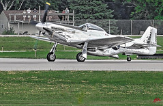 MUSTANG ROLLS FOR TAKE OFF  --OSHKOSH AIR SHOW 2018- (panache2620) Tags: p51 aircraft plane mustang fastmover merlin v12 wwii fighter eos canon oshkoshairshow wiscoonsin photodocumentary warbird vintageaircraft vintage