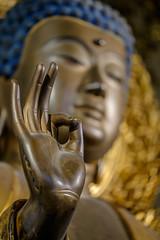 Pukka (@richlewis) Tags: fujifilmxt1 fujinonxf80mmf28rlmoiswrmacro munich germany muenchen deutschland museumfünfkontinente buddha statue sculpture golden hand
