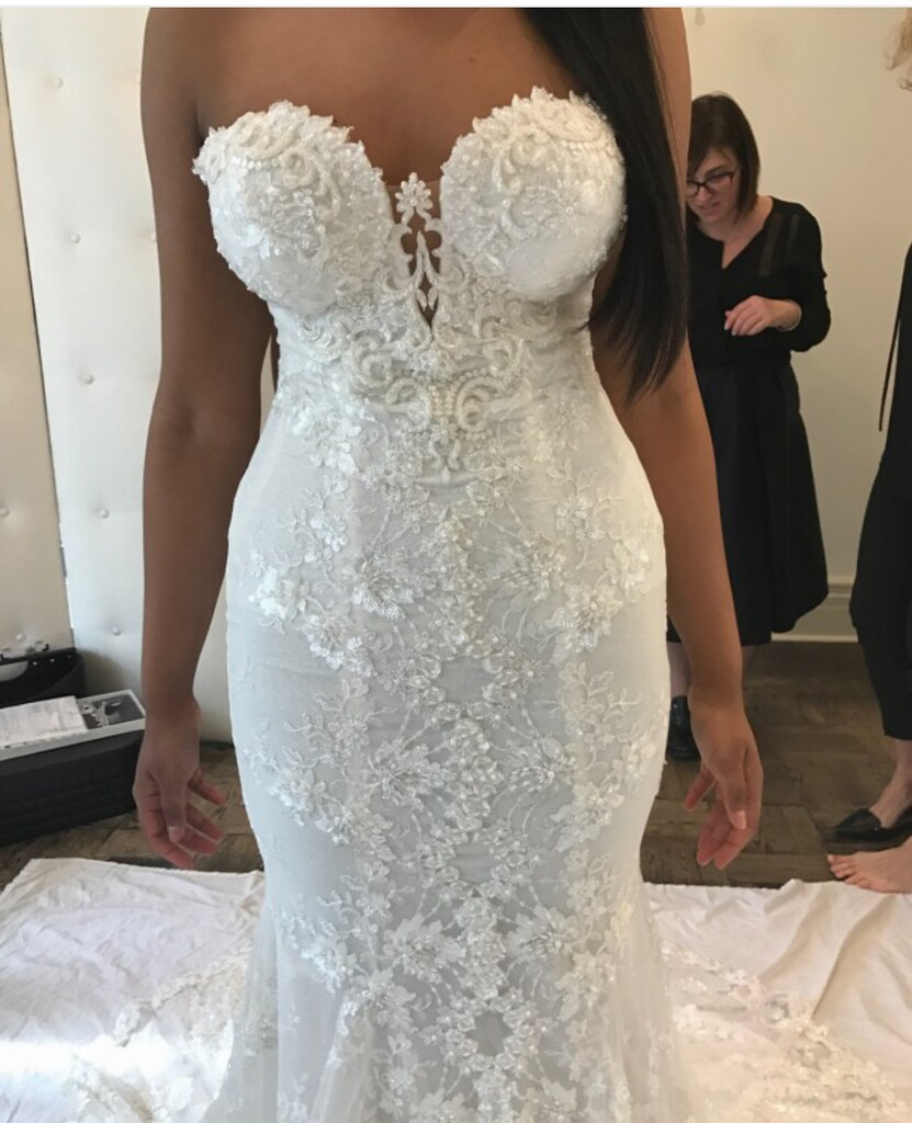 3846e88726 Strapless beaded lace wedding gown from Darius Cordell Bridal (Darius  Cordell) Tags: dariuscordell