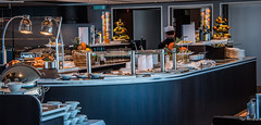2018 - Danube River Cruise - Avalon Passion - Dining Room (Ted's photos - For Me & You) Tags: 2018 avalonwaterways cropped nikon nikond750 nikonfx romania tedmcgrath tedsphotos vignetting avalonpassion kitchen buffet fruit counter