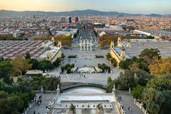 Barcelona (Jorge Franganillo) Tags: barcelona catalonia catalunya cataluña españa spain panorama panorámica panoramic montjuïc goldenhour tarde atardecer