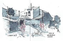 Abia de la Obispalía (P.Barahona) Tags: casas camino arquitectura rural urbano urbansketcher urbansketchers malvas flores